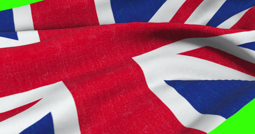 brexit, closeup of waving flag of union jack, uk great britain england symbol, named united kingdom Live Action