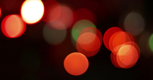 abstract defocused night traffic city lights bokeh background, car lights city nightlife concept Live Action
