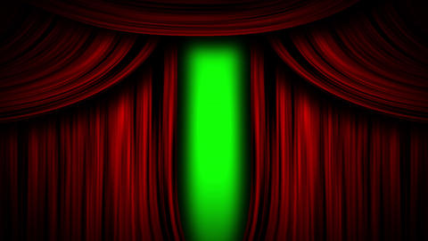 curtain theater open stage open red open curtain close stage close red close curtain show green Animation