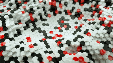 Abstract background with hexagons 3D render seamless loop animation Animation