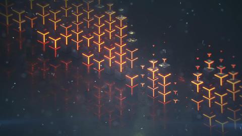 Equalizer or spectrum analyzer seamless loop 3D render animation CG動画