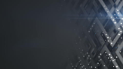Technical plate and free space seamless loop 3D render animation Animation
