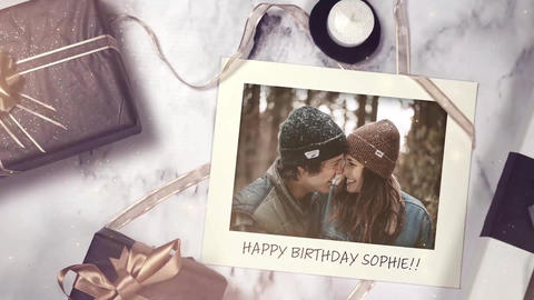 Birthday Gifts Slideshow After Effects Template