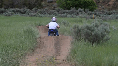 Boy motorcycle away track P HD 0915 Live Action