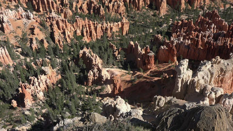 Bryce Canyon beautiful red rock valley mountains 4K 126 Footage