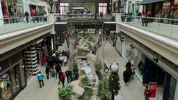Christmas shopping indoor luxury mall fast timelapse HD 0243 Footage