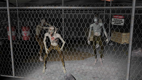 danger zone, a prison for zombies Animation