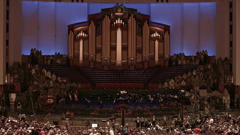 Conference Center LDS Mormon church program HD 0447 Footage