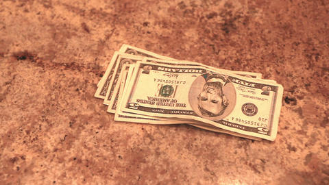 Counting a stack of money P HD 8614 Footage