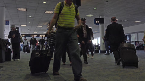 Crowded passenger Dulles International Airport terminal 4K 049 Live Action
