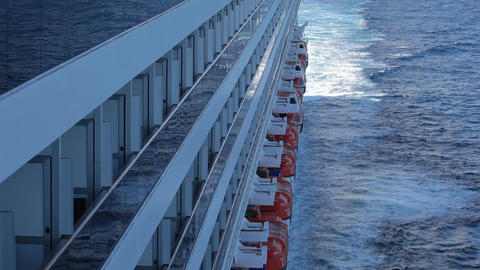 Cruise ship balconies optical illusion P HD 4279 Footage