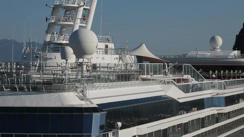 Cruise ship close top deck P HD 4503 Footage