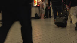 Dallas Airport passengers crew passenger legs fast 4K 008 Footage