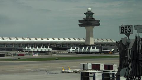 Dulles International Airport runway ramps Washington DC 4K 022 Footage