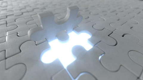 The last piece of puzzle falls on its place 3D render animation Animation