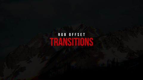 RGB Offset Transitions Apple Motion Template