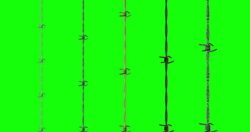 various barbed metal wire metal fence metal barbed chroma key wire chroma key fence chroma key Animation
