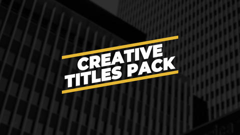 Bold Titles After Effects Template