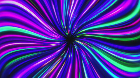 Neon Cyberpunk Multicolored Glowing Whirling Light Trails Videos animados