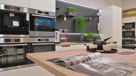 Interior of domestic appliance store Live Action