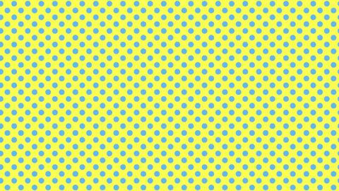 黄色と水色 水玉背景 ループ CG動画