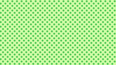 黄緑 水玉背景 ループ CG動画
