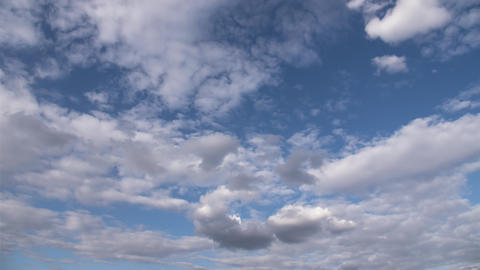 Natural sky beautiful blue and white background. Blurry blue sky and white cloud Live Action