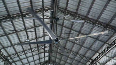 Large industrial ceiling fan Live Action