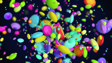 Colored Candy explosion in 4K GIF
