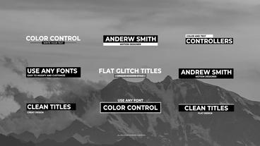 Glitch Titles Motion Graphics Template