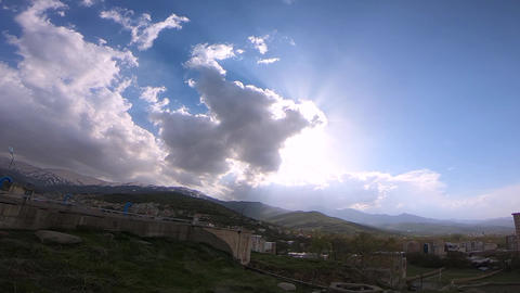 cloudy sky in the mountain Live Action