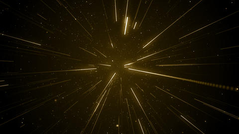 Particles gold glitter awards dust abstract background loop Animation