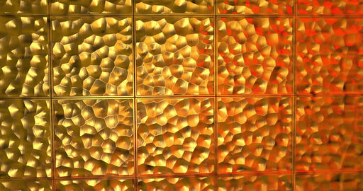 Abstract golden 3D geometric pattern. Mosaic metallic background for event. 3D Animation