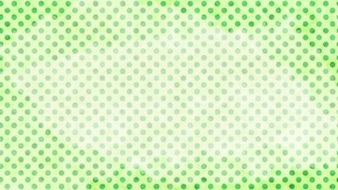 黄緑 水玉水彩背景 ループ CG動画