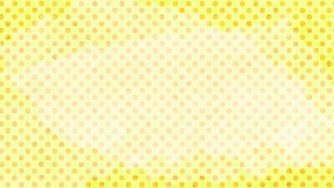 レモン色 水玉水彩背景 ループ CG動画