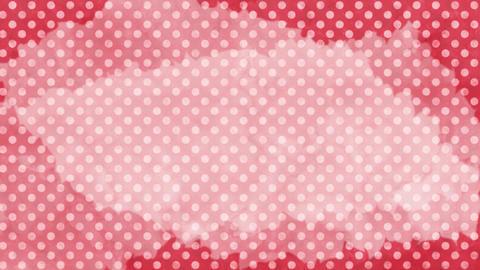 赤 水玉水彩背景 ループ CG動画