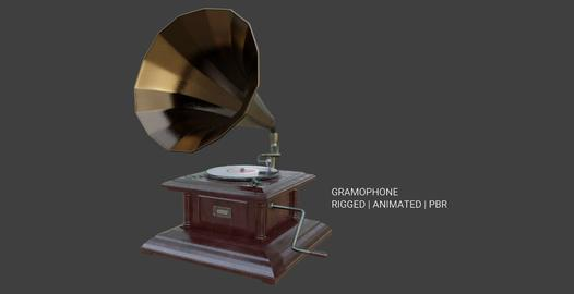 Gramophone Phonograph Low-poly 3D model 3D Model