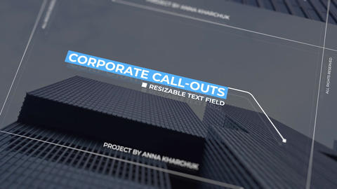 Call Outs Clean & Simple Motion Graphics Template