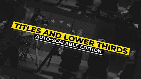 Lower Thirds Auto-Scalable by Anna Harchuk ~ Motion Gr モーショングラフィックステンプレート