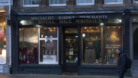 Royal Mile Whiskeys - EDINBURGH, SCOTLAND - JANUARY 10, 2020 Live Action