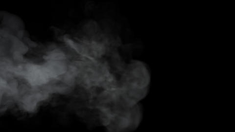 Realistic White Atmospheric Fumes Slowly Floating Fills Gloom Visual Template Live Action