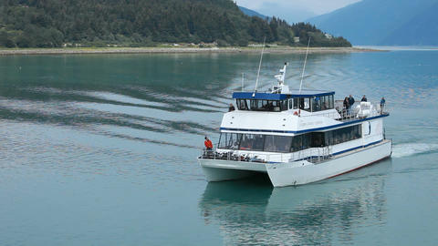 Ferry Skagway arriving P HD 0071 Footage