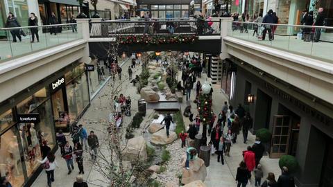 Festive shopping mall Christmas holiday season HD 0265 Footage