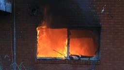 Fire through window P HD 7903 Footage