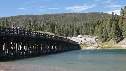 Fishing Bridge Yellowstone P HD 2332 Footage