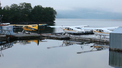 Float plane marina Prince Rupert P HD 0347 Footage