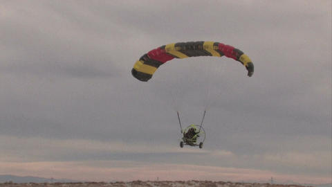 Flying Powered Parachute overhead track M HD Footage
