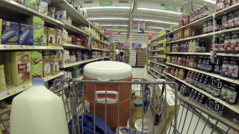 Food shopping cookie drink isle shelf HD 001 Footage