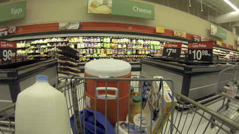 Food grocery shopping fast timelapse POV HD 001 Footage