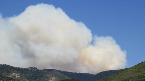 Forest fire over mountain P HD 1035 Footage